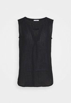 SHEER STRUC - Bluse - black