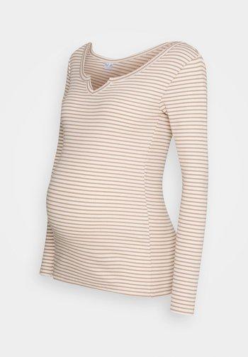 PCMBANO - Long sleeved top - whitecap gray/natural