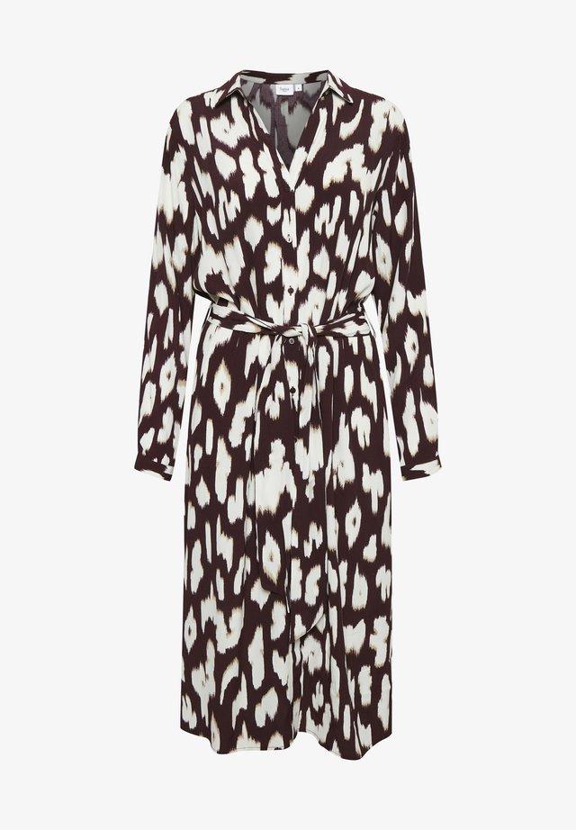 Vestido camisero - wine animal skin