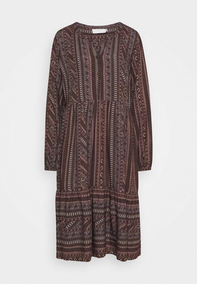 FIORELLA DRESS - Abito a camicia - brown