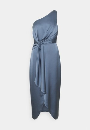 HAIDEE ONE SHOULDER DRESS - Cocktail dress / Party dress - slate blue