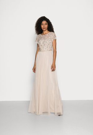 FLORAL BEADED  WITH TULLE - Occasion wear - biscotti