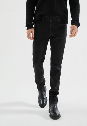 JEANS BLACK MARL EFFECT - Straight leg jeans - noir