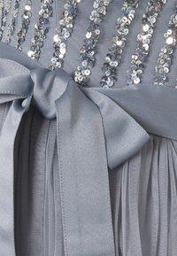 Maya Deluxe Maternity - STRIPE EMBELLISHED CAMI MAXI DRESS - Iltapuku - dusty blue - 2