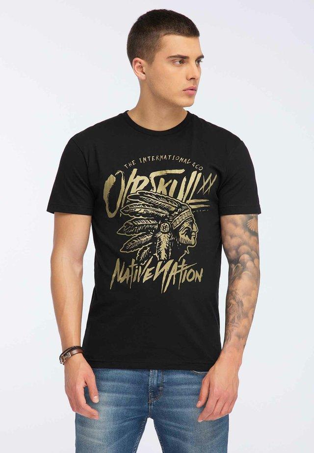 OLDSKULL T-SHIRT PRINT - T-shirt imprimé - black