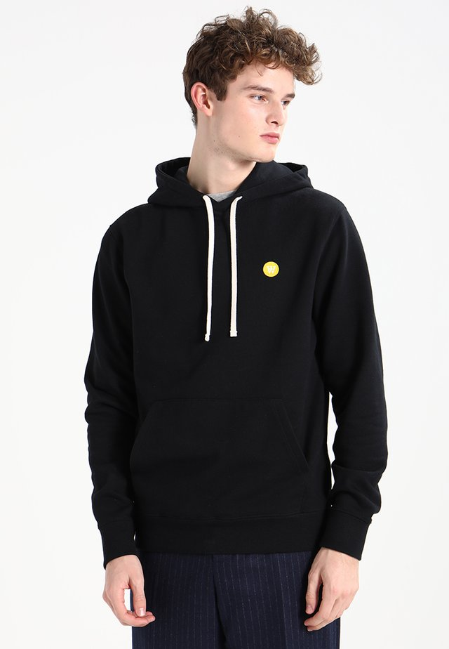IAN - Bluza z kapturem - black