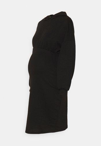 OLMSANDY SHORT DRESS - Jersey dress - black