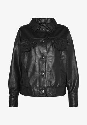 EMONE JACKET - Leather jacket - black