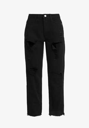 RIOT HIGH RISE MOM - Jeans a sigaretta - washed black