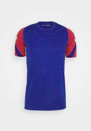 DRY STRIKE - Print T-shirt - deep royal blue/dark beetroot/white