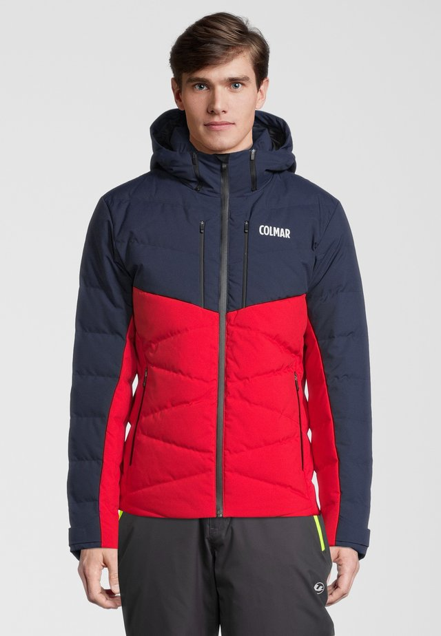 COLOUR BLOCK - Winterjas - red/black