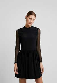 Calvin Klein Jeans - SKATER DRESS - Denní šaty - black - 0