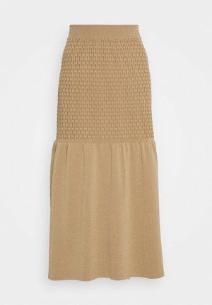 GRETA - Maxi skirt - beige