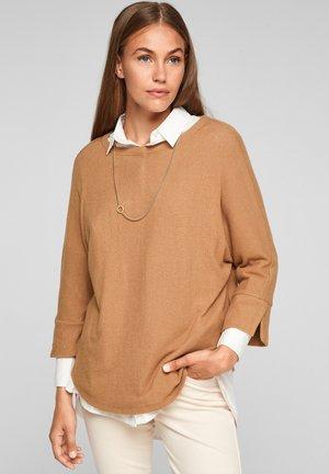 Long sleeved top - caramel melange