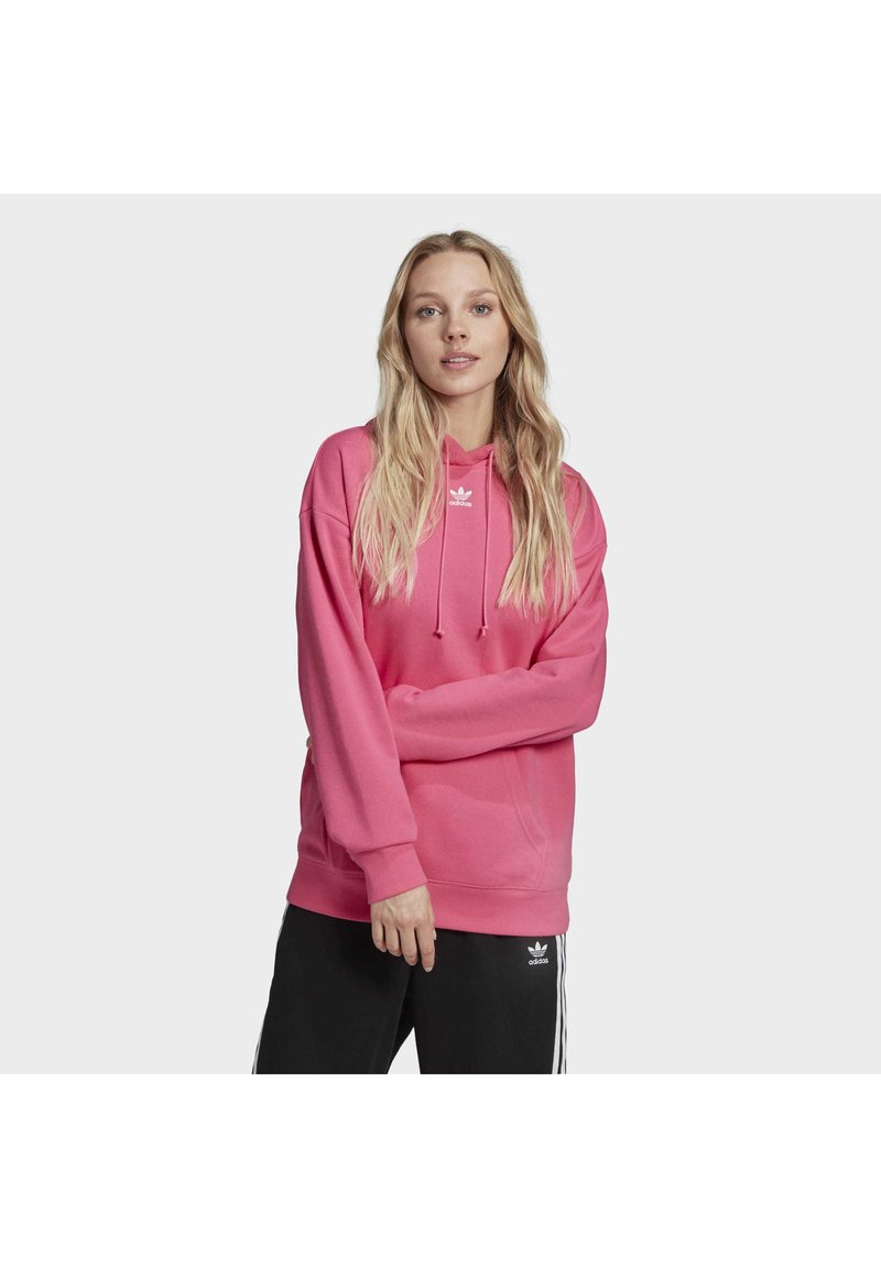 adidas Originals - TREFOIL ESSENTIALS HOODED - Jersey con capucha - pink, not defined
