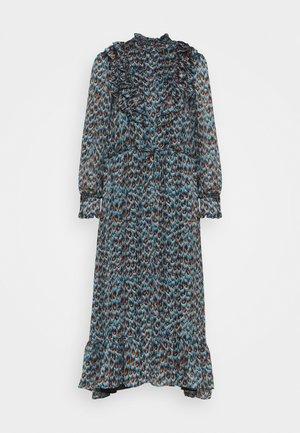 FIA DRESS - Korte jurk - dusty blue/taupe