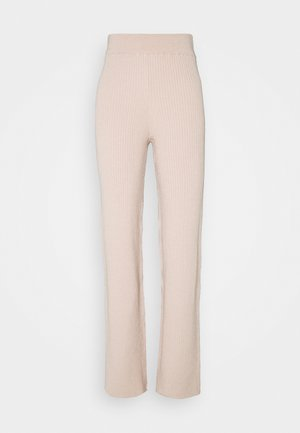 SOFT RIBBED PANTS - Trousers - pink