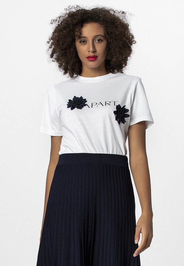T-shirt print - white night blue