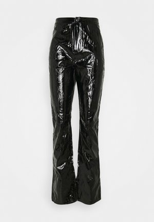 SHINY TROUSER - Kangashousut - black