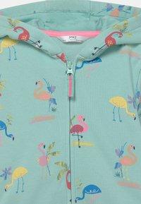 Marks & Spencer London - FLAMINGO HOODY - Zip-up sweatshirt - aqua mix - 2