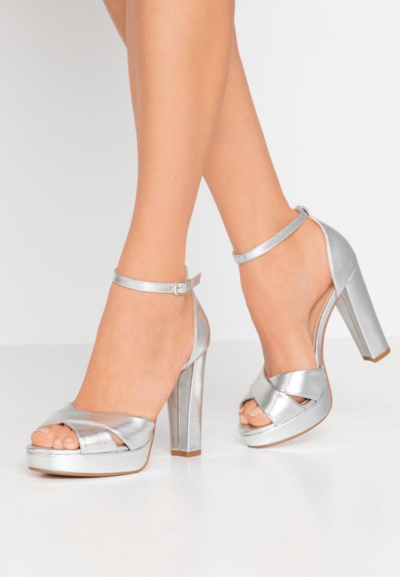 Anna Field - Sandaler med høye hæler - silver
