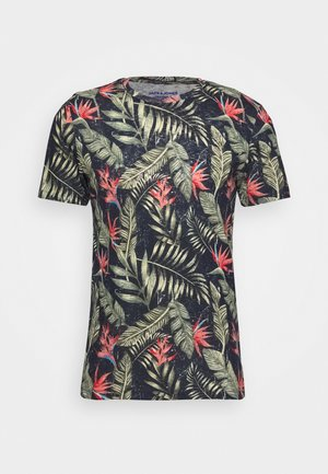 JORELI TEE CREW NECK - Print T-shirt - navy blazer
