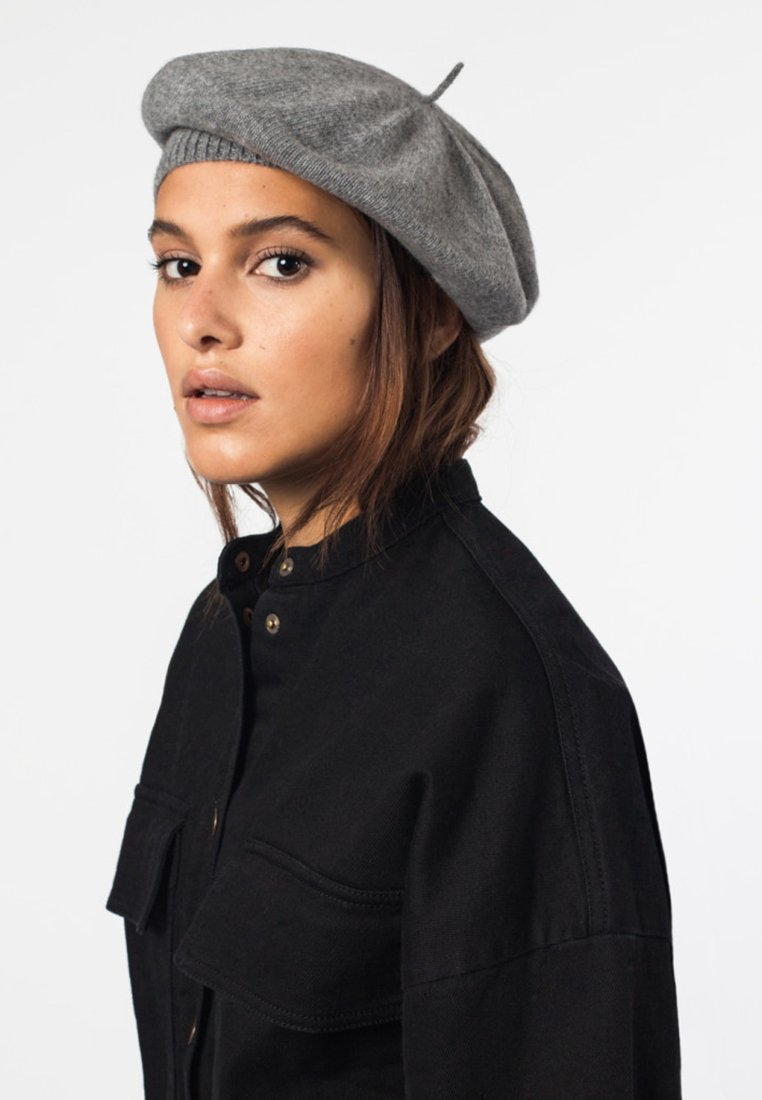 Bickley+Mitchell - BERET - Hat - mottled grey