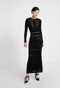 TWINSET - ABITO LUNGO IN SEAMLESS - Maxi dress - nero - 0