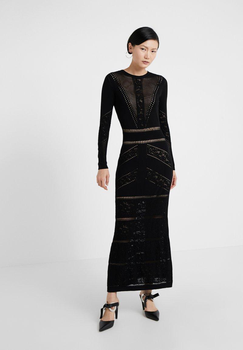 TWINSET - ABITO LUNGO IN SEAMLESS - Maxi dress - nero