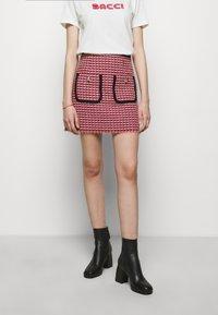 maje - JENALT - A-line skirt - fuchsia - 0