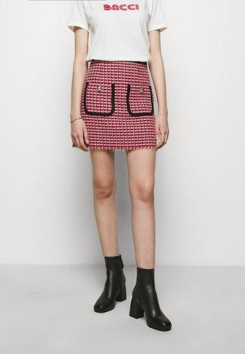 JENALT - A-line skirt - fuchsia