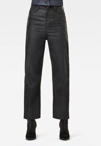G-Star - TEDIE ULTRA HIGH STRAIGHT ANKLE - Straight leg jeans - waxed black cobler - 0
