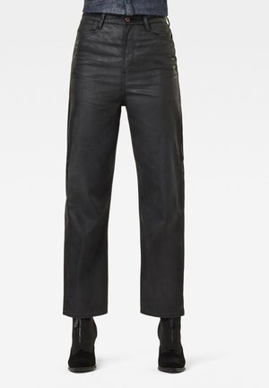 TEDIE ULTRA HIGH STRAIGHT ANKLE - Straight leg jeans - waxed black cobler