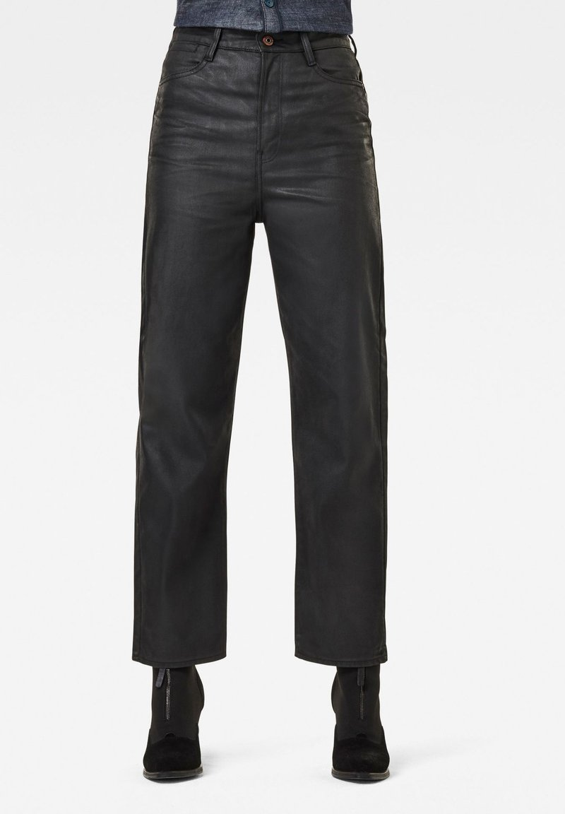 G-Star - TEDIE ULTRA HIGH STRAIGHT ANKLE - Straight leg jeans - waxed black cobler