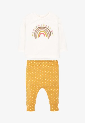 RAINBOW SET - Tracksuit bottoms - ochre