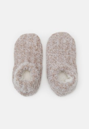 WOMEN COSY HOMESLIPPERS - Socks - taupe