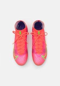 Nike Performance - MERCURIAL 8 ELITE FG - Moulded stud football boots - bright crimson/metallic silver - 3