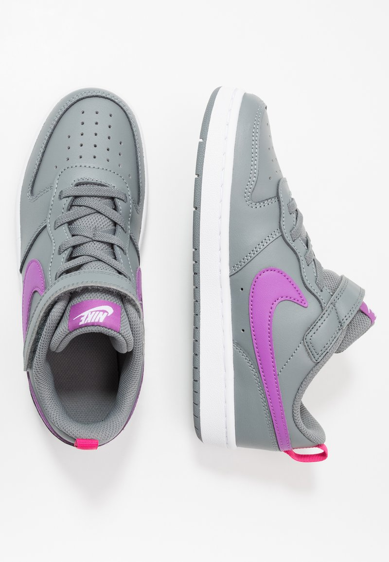 Nike Sportswear - COURT BOROUGH 2 - Sneakers basse - smoke grey/purple/watermelon/white