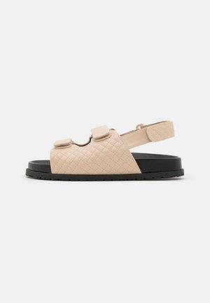 QUILTED - Sandals - beige