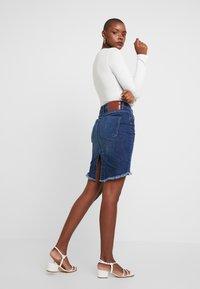 One Teaspoon - PENCIL SKIRT - Denim skirt - cool blue - 2