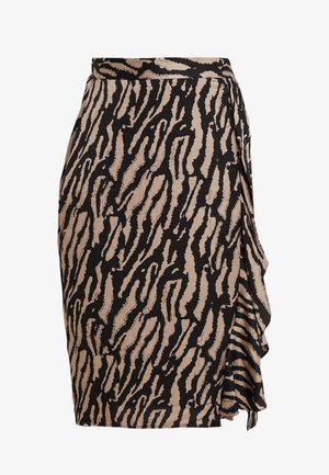 TREE VIOLIS SKIRT - A-line skirt - black/desert sand artwork