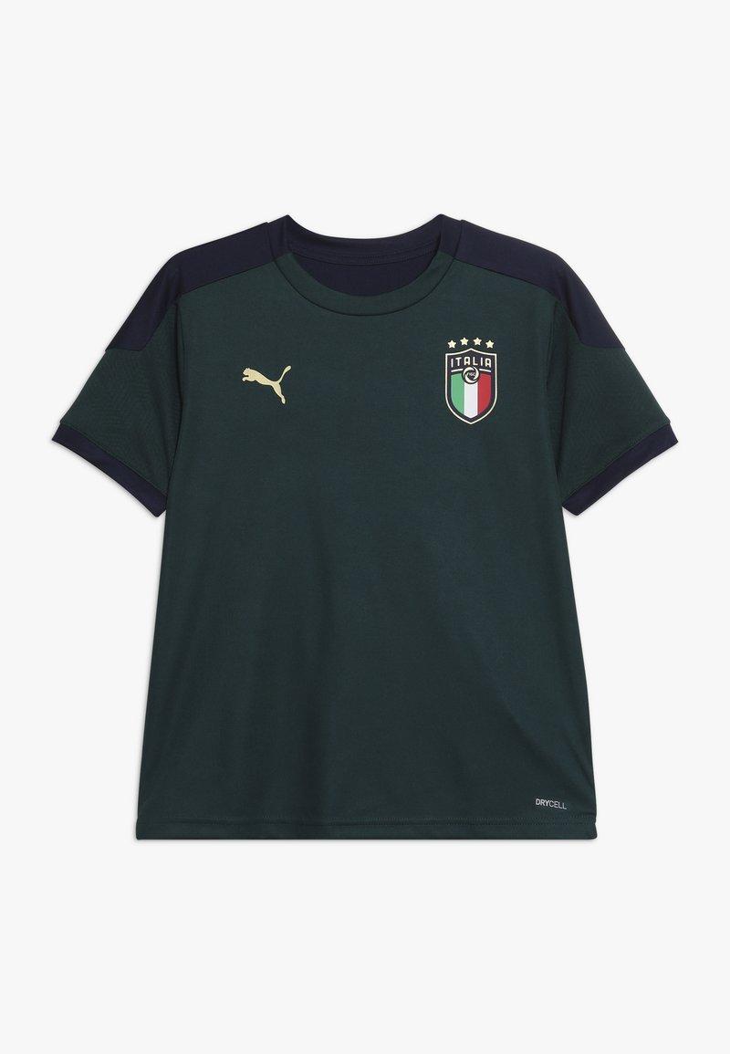 Puma - ITALIEN FIGC TRAINING SHIRT - Oblečení národního týmu - ponderosa pine/peacoat