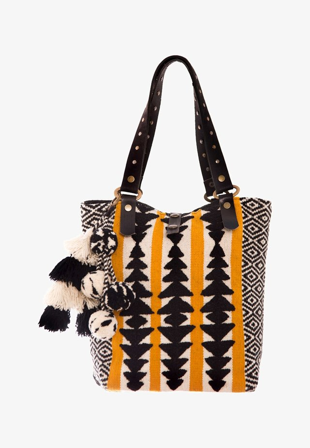 GIA - Tote bag - black/white/orange