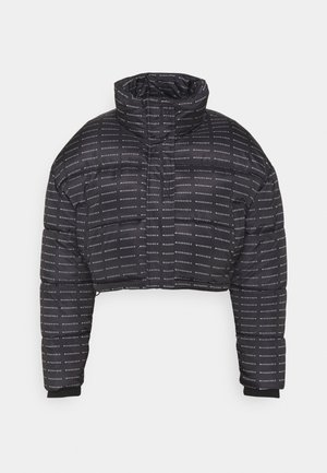 ALL OVER SMALL BRANDED PUFFER - Winterjas - black