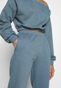 Nly by Nelly - COZY PANTS - Teplákové kalhoty - blue - 4