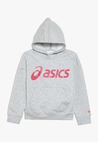 ASICS - BIG HOODIE - Jersey con capucha - mid grey heather/laser pink - 0