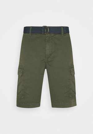 WITH BELT - Shorts - dark army