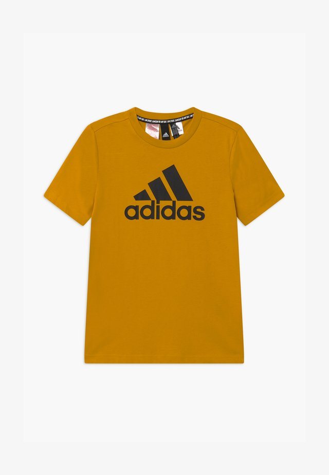 UNISEX - Print T-shirt - gold, black