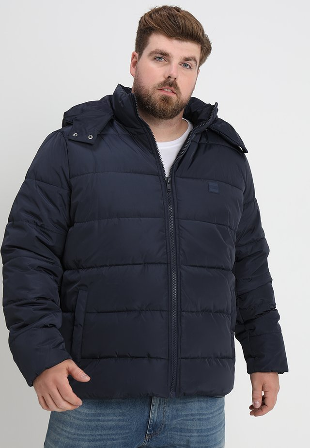 HOODED PUFFER JACKET - Winter jacket - navy
