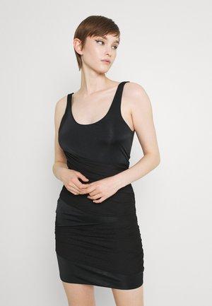 CROSS FRONT LAYERED MINI DRESS - Cocktail dress / Party dress - black